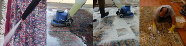 selection of our rug cleaning images taken in our london based workshop